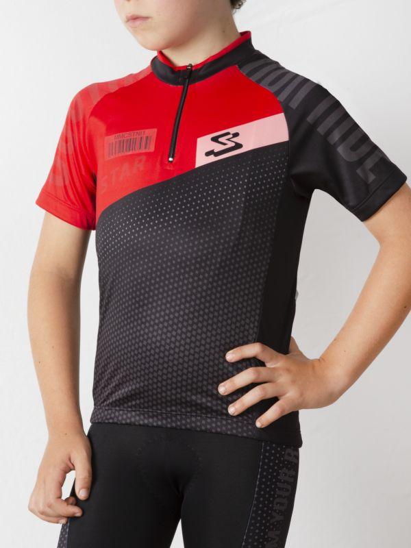Star jersey short sleeves closed full zipp