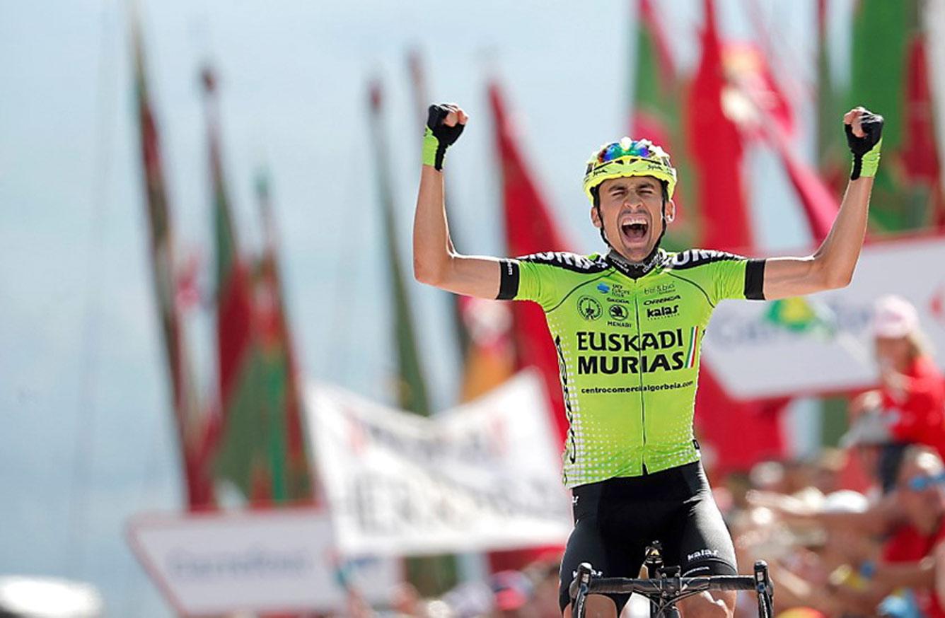 Histórica victoria de Oscar Rodríguez para el Murias-Euskadi en La Vuelta